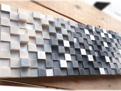 Wooden Wall Mosaic by  DInteriorsShop on Etsy