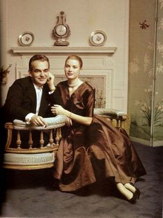 Prince Rainier and Grace Kelly, photographed by Howell Conant in 1956.