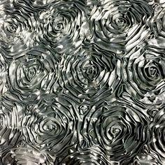 DX Event Rentals - Gunmetal Grey Rosette