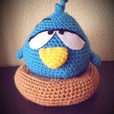 #crochet #amigurumis Pajaroto (Sleepy Bird) by anaenlana