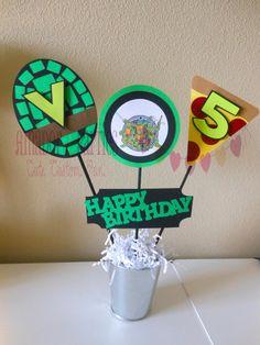 Teenage Mutant Ninja Turtle Centerpiece by AmadordeParties on Etsy, $14.00