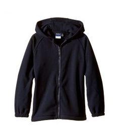 Nautica Kids Husky Polar Fleece Jacket w/ Hood (Big Kids) (Navy) Boy's Coat