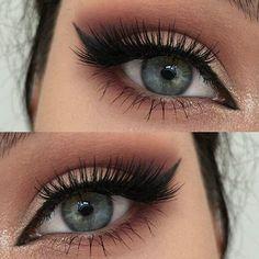Imagem de eyes and makeup