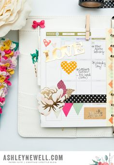 Moments Inked Planner by Ashley Cannon Newell #PaperSuite #PapertreyInk #MomentsInked #planner