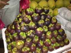 Mangosteen... Tropical fruit from Philippines.