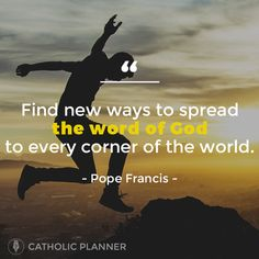 The Catholic Planner is the perfect tool for Catholics to organize their busy lives while keeping Christ at the center. Catholic Quotes