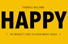"Pharrell Williams presents ""Happy"" — the world's first 24 hour music video. Pharrell Williams Happy, International Day Of Happiness, People Videos, People Dancing, The Weeknd, My Favorite Music, News Songs, I Am Happy, First World"