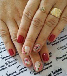 29 Modelos de Unhas com borboletas – Passo a passo Ombre Nail Designs, Cute Nail Designs, Finger, Spring Nails, Cute Nails, Pedicure, Hair And Nails, Hair Beauty, Make Up
