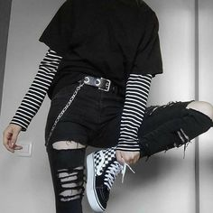 Edgy Outfits, Mode Outfits, Retro Outfits, Cute Casual Outfits, Vintage Outfits, Hipster Girl Outfits, Gothic Outfits, Best Outfits, Cute Grunge Outfits
