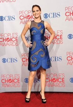 Showing off her arms at this year's People's Choice Awards.