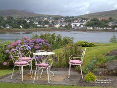 Portree Harbor from B, Isle of Skye, Scotland