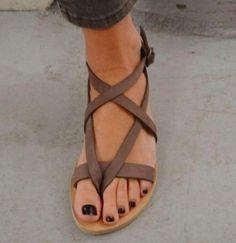 98456feba77c Criss Cross Ankle Strap Sandals  gladiatorsandals Baleríny