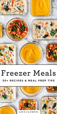 These easy freezer meals are healthy, delicious, and great for busy nights! Find 50 make-ahead recipes that reheat well, plus tips on how to freeze them. Healthy Freezer Meals, Make Ahead Meals, Easy Meals, Freezer Cooking, Best Veggie Burger, Butternut Squash Chili, Veggie Patties, Veggie Soup, Heart Healthy Recipes