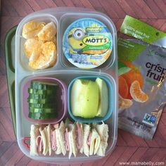 Easy School Lunches in Easylunchboxes - http://mamabelly.com