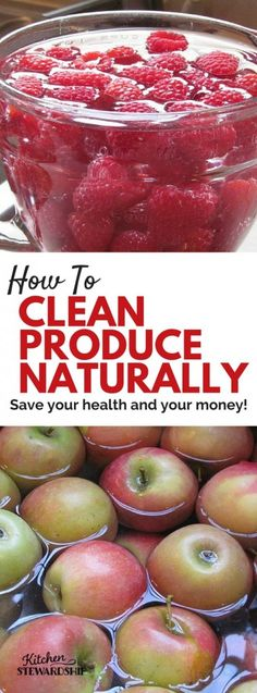 Even organic produce needs to be cleaned before you eat it! This {mostly} hands off method takes only minutes but the results will save you money in the long run!