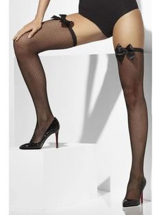 These fishnet hold-ups are a highlight for any ladies wardrobe. These sexy women's stockings are the perfect choice to complete your costume. Lady Stockings, Fishnet Stockings, Fishnet Tights, Black Fishnets, Lingerie Outfits, Leggings, Black Lingerie, Black Bodysuit, Costume Accessories