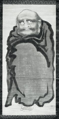 Ito Jakuchu (伊藤若冲. Daruma. Ink on paper. ). Edo Period.18thC(late)-19thC(early). Hanging scroll. Japan. British Museum.