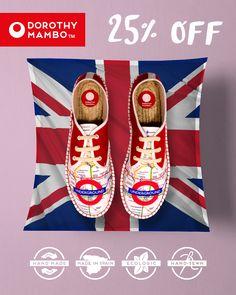 25 % de DESCUENTO en TODA la TIENDA ♥ CÓDIGO: MAMBO25 ♥ Be Mambo my friend !!!! *Oferta válida hasta el domingo 11 de junio a las 23:59h. DESCUBRE todos los modelos en www.dorothymambo.com 1 cambio de talla completamente ¡GRATIS! #dorothymambo #descuento #promocion #rebajado #rebajas #moda #fashion #alpargatas #espadrilles #hechoamano #handmade #hechoenespaña #modamujer #mujer #trendy #urbanchic #primavera #trends #tendencias #hipster #vintage #retro #bohochic #diseño #calzado #zapatos…