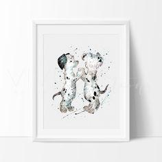 101 Dalmatians Dog Disney Boy Girl Nursery Art Print