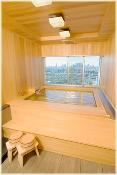 hinoki bath tub japanese house #bathroom