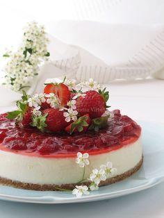 cheesecake al cioccolato bianco e fragole 2.1
