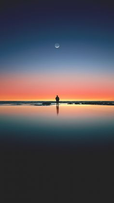 silhouette of man standing on seashore Wallpaper – Wonder Wallpaper Nature Wallpaper, Wallpaper Backgrounds, 480x800 Wallpaper, Sunset Wallpaper, Wallpaper Art, Iphone Backgrounds, Photo Wallpaper, Mobile Wallpaper, Pictures Images