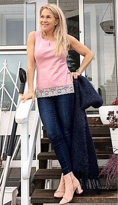 Tekstiilinahkainen toppi Roosa