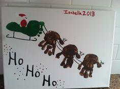 Christmas craft for kids. Handprint & footprint.