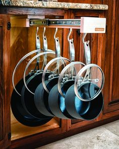 Amazon.com: Glideware Pull-out Cabinet Organizer for Pots and Pans: Cabinet Pull Out Organizers: Kitchen & Dining