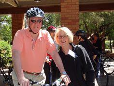 Congressman Mike Thompson and Mayor Jill Techel of Napa.