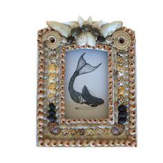 Earth Tones Seashell Frame by TheMermaidsBox on Etsy Seashell Frame, Seashell Art, Shell Mirrors, Finding Treasure, Valentines Art, I Love The Beach, Sailors, Seashells, Earth Tones