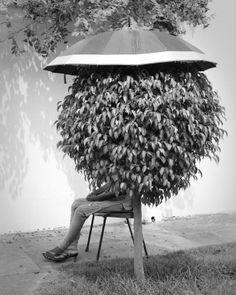 "Saatchi Art Artist: Michael Wood; Black & White 2010 Photography ""Umbrella Lady"""