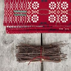 Image of coldatnight Welsh Wool Blanket in Berry Red