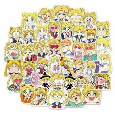 x36 Cute Sailor Moon Stickers Cartoon Japan Anime Decal Vinyl US SELLER Kawaii