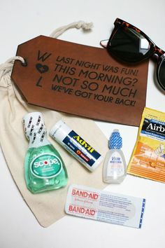 wedding hangover kit ideas