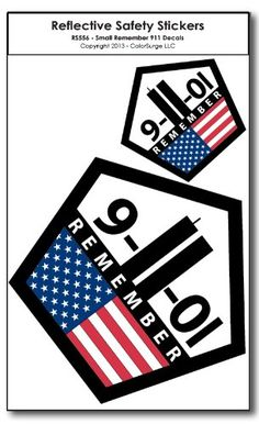 Small Remember 911 REFLECTIVE Decals CoolHubcaps