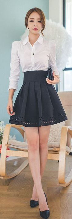 Luxe Asian Women Design Korean Model Fashion Style Dress: