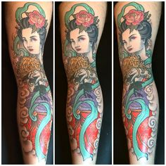 nice Geisha from Tyler Pennington (@tpenningtontat2) at Yellow Rose Tattoo Club in Kernersville, N