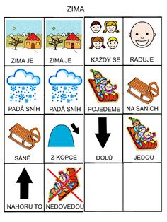 Pro Šíšu: Zima Montessori, Playing Cards, Language, Teaching, Education, Sewing, Logos, School, Winter