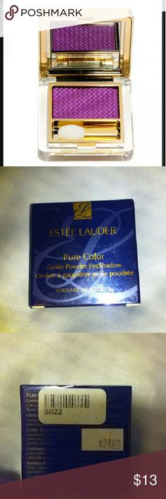 Estee Lauder Pure Color Gelee Eyeshadow Condition: NIB  Description: Vivid Color  Luminous, Apply Wet for more intense color or dry for a brilliant color  Ophthalmologist tested  Fragrance Free  Color: Magenta Vivid Shine Estee Lauder Makeup Eyeshadow