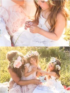 mommy and me photos, photos in a grassy field