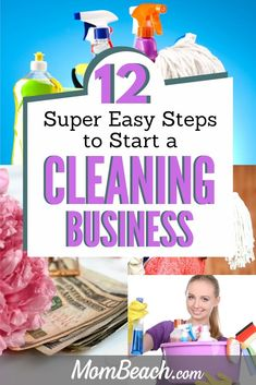 Learning how to start a cleaning business from scratch is easy for beginners. A cleaning business is quite lucrative and can support your entire family! Cleaning Companies, House Cleaning Services, Cleaning Checklist, Cleaning Contracts, Cleaning Hacks, Cleaning Supplies, Starting A Business, Business Planning, Business Tips