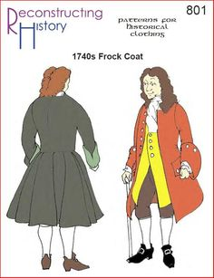 Buy this pattern and easily make this lovely Frock Coat straight out of the Young Victoria movie. Full size paper patterns for Men's Frock Coat or Top Coat for the with narrow cuffs, attached wide skirts, side panel, and optional shoulder cape. Coat Pattern Sewing, Coat Patterns, Clothing Patterns, Dress Patterns, Sewing Patterns, Paper Patterns, Black Tees, Motif Photo, Hamilton Costume