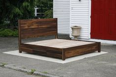 NdRnV02 Solid Hardwood short Platform Bed with 6 drawers &