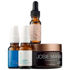 Josie Maran Argan Beach Beauty Essentials - A four-piece collection of Josie Maran's beach beauty essentials. #Sephora #skincare #valueset