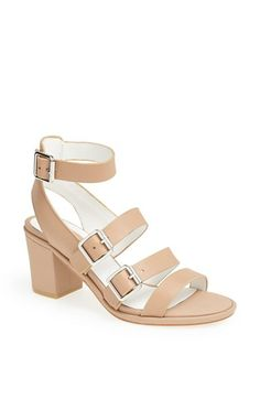 Topshop 'Nowhere' Mid Heel Sandal available at #Nordstrom $100