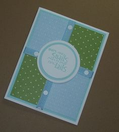 Snips and Snails and Puppy Dog Tails, New Baby Boy Card, Handmade Greeting Card, Stamped