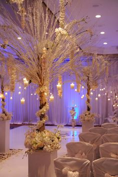 -Winter Wonderland Wedding - pretty Aisle & alter design.<3