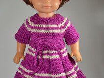 Puppenkleid  gestrickt für 30 cm Puppe