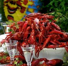 Swedish crayfish party in August